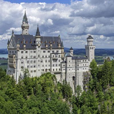 Schloss Neuschwanstein Luftaufnahme