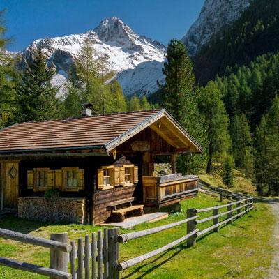 Holzhütte in Österreich